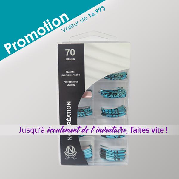 Promotion sur les pointes miroir z br bleu nail cr ation for Miroir zebre